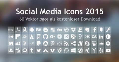 Social Media Icons 2015 - Vektorlogos als Download